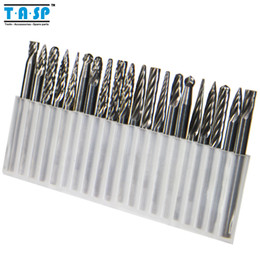 Wholesale Engraved Metal - Free Shipping 20pc Tungsten Carbide Rotary Burrs Set for Dremel Accessories Milling Cutter Drill Bit Engraving Bits