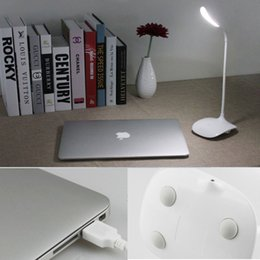 Wholesale Korean Small Table - LED Desk Lamp USB Port Brightness Adjustable Touch Control LED Lamp Portable Eye-protected Gooseneck Small Table Light