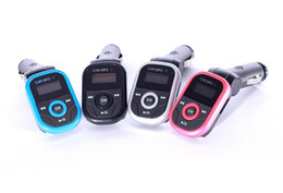 Wholesale Chevrolet Car Led - High Quality New Arrival Rotatable Car MP3 Player 1.2 inch LED Wireless FM Transmitter USB Disk For SD MMC TF Remote Control