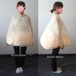 Wholesale Ivory Petticoats - Practical Simple Bride's Buddy Save You From Toilet Water Wedding Dress Petticoat Underskirt Gather Skirt Tool Bridal Gown Bathroom Helper