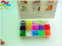Clips de métier à tisser bracelet en Ligne-Loom Bands Kit de fabrication de bricolage pour faire Bracelet en caoutchouc coloré avec métiers à tisser + Crochets + Clips twistz bandz