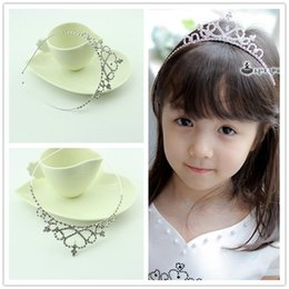 Wholesale Kids Wedding Tiaras - New White Crystal Tiaras Baby Headband Wedding Girl Hairband 20 Pieces Good Quality Kids Hair Accessories