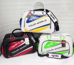 Wholesale Leather Golf Shoe Bag - HONMA golf boston bag High quality outdoor travel bag PU leather golf clothing bags with innner shoes bag