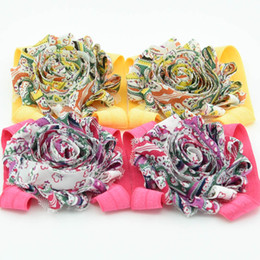 Wholesale Shabby Flowers Leopard - 24 Pairs Leopard Print Baby Barefoot Sandals Newbron baby shoes shabby flower sandals baby girl feet flower sandals