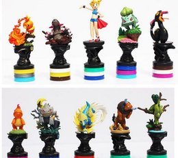 Wholesale Cartoon Anime Dolls - Anime Cartoon Poke PVC Action Figure Collection Model Toys Dolls Classic Toys 10pcs set