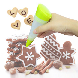 Wholesale Tool Cone - DIY Silicone Decortive Pen Thickening Soft Cone Shape Baking Tools Convenient Removable Cake Chocolate Paint Pens Soft 2 63zy B
