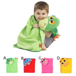 Wholesale Thermals For Baby Girls - Retail Cartoon Animal Printed Baby Towel Dinosaur Elephant Tiger Cow Children Bathrobes Hooded Bath Towel Baby Shower Towels For Girls Boys