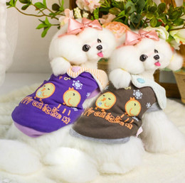 Wholesale Chick Shoes - Lollipop Pet Products Supplies Dog Clothes Wear Apparel T-shirt Hoodies Puppy Winter Chick Dog Coat Costumes Thick Downs 7DLP34