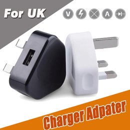 Wholesale Uk Usb Plug High - UK 3 Pin Mains Charger Adapter Plug 5V 1A UK USB Wall Charging Adapter Tablet PC Universal High Quality For iPhone X 8 7 Plus Samsung S8