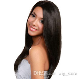 Wholesale Malaysian Hair Online - Silky Straight full lace human hair wigs shopping online wigs natural color human hair wigs full lace