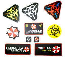 PVC Resident Evil Patch Táctico 3D Umbrella Corporation Parches Insignia Militar Brazalete De Goma 10 unids desde fabricantes