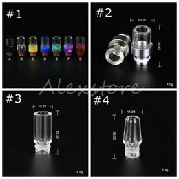 Wholesale Drip Trips - 4 Style Pyrex Glass 510 Ego drip tips drip tip clear mouthpiece drip trip Wide Bore colorful driptip for Subtank mini rda atomizer