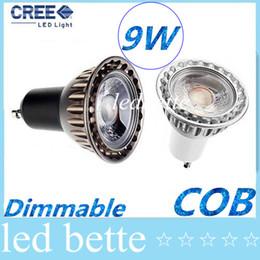 Wholesale Mr16 Lighting Angle - New Arrival GU10 MR16 9W COB Led Spotlights 60 Angle CRI>85 Warm Cool White Dimmable Led Bulbs Light 110-240V 12V + CE ROHS UL