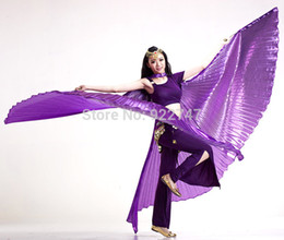 Wholesale Isis Gold Dance Wings - 2015 New Arrival Egyptian Egypt Opening Isis Wings Professional Belly Dance Costume ( no stick ) 10 Colors