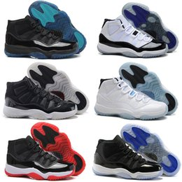 Wholesale Floral Print Shoes - 2017 Retro 11 Basketball Shoes Air Low Men Women Retros Space Jam 11s XI 72 Bred Black Velvet Heiress Homme Athletic Replicas Sports Sneak