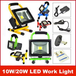 Wholesale Work Light Rechargeable Cordless - 10W 20W Cordless Rechargeable LED Flood Spot Work Light Lamps Weather Resistant