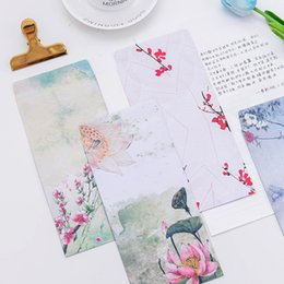 Wholesale Vintage Letter Paper Envelopes - Wholesale- 5 Pieces  Lot Vintage Chinese Style Vintage Craft Paper Envelope for Letter Paper Postcards Korean Stationery Free Shipping