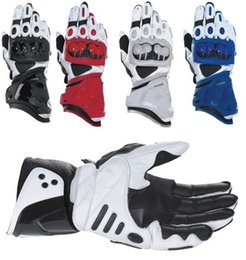 Wholesale Motorcycle Racing Leather Black - New GP PRO Motorcycle Gloves Real Leather Road Racing Glove Black White Red Moto Guantes