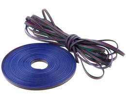 câble dc 12v Promotion Câble de raccordement de 10 mètres RVB Câble d'extraction 22AWG pour bande de lumière LED RGB Câble de rallonge de bande 22 #
