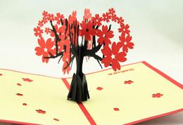 regali di giorno delle madri sveglie Sconti Cartolina d'auguri di madri giorno di carte fatte a mano 3d cartolina d'auguri di sakura romantico della busta 3d cartolina d'auguri dell'albero di sakura sveglio