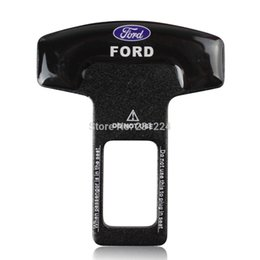 Wholesale Car Seat Safety Buckle New - New 2PCS Car Safety Seat Belt Buckle Plug car Insert Alarm Stopper Eliminator for Ford Auto Accessories 2PCS lot