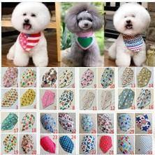 vêtements chihuahua pour hommes Promotion En gros 100pcs / lot 2015 nouveau mélange 50 couleurs réglable nouveau chien chiot bandana collier chien bandanas coton plus à la mode
