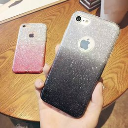 Wholesale Iphone 5s Color Cases - Fashion Bling Gradual Case Ultra Thin Change Color Glitter Soft Shockproof Cover For iPhone X 8 7 6S 6 5 5S Plus Sumsung S8 S7 Plus Edge J7