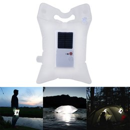 Wholesale Solar Powered Light Ip68 - 2018 New Foldable Inflatable Solar Power LED Night Light Portable Lantern Solar Lamp for Outdoor Camping Hiking Emergency Light