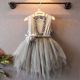 Wholesale Tulle Childrens Dress - Childrens Dresses Girl Dress Tutu Dresses Children Clothes Kids Clothing 2016 Summer Dresses Tulle Dress Princess Dresses Ruffle Dress C9151