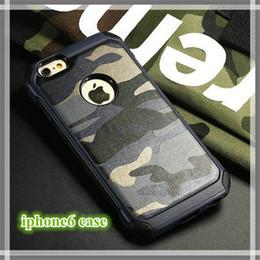 Canada Pour IP 6 / 6s cas de téléphone portable TPU + PC camouflage de luxe camouflage armée 2 en 1 couverture arrière hybird pour IP 5 / 5s / 6 / 6s / 6plus supplier iphone 5s cover camo Offre