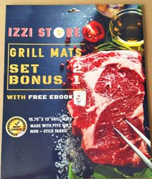 Wholesale Bbq Grill Sets - IZZI Grill Mat - Set of 3 Non Stick BBQ Grilling Mats - Heavy Duty, Reusable, and Easy to Clean
