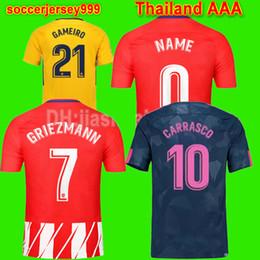 Wholesale Yellow Soccer Kids - Thailand Soccer jersey 2017 2018 F.TORRES women kids player version GRIEZMANN KOKE GABI SAUL CARRASCO football shirt uniform maillot
