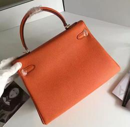 Wholesale Togo Bags - Original Quality Kell Designer Caviar Leather Gold Lock Handbag, Women Togo Genuine Leather Shopping Bag 32cm 28cm H203