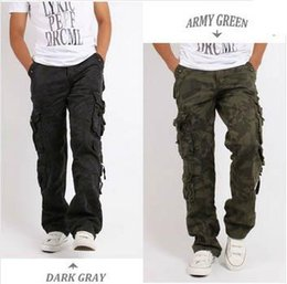 Wholesale Cargo Combat Work Trousers - Outdoor Men's Cotton Combat Multi-Pockets Utility Casual Loose Long Full Length Cargo Pants Work Trousers Camouflage Size 30-38