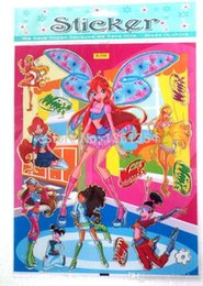 Wholesale Party Winx - Free Shipping Wholesale 100 X Winx Club Cartoon Stickers Children's Party Gifts 0501#