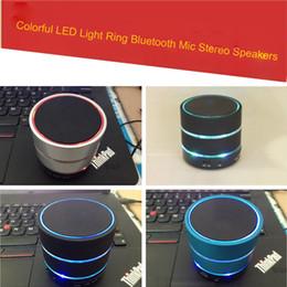 Canada Haut-parleur LED S09 Haut-parleur amélioré 3 Anneau lumineux LED Super Bass Métal Mini Portable Beat Hi-Fi Bluetooth Main Libre Mic Stéréo USB Haut-parleurs Nouveau Offre