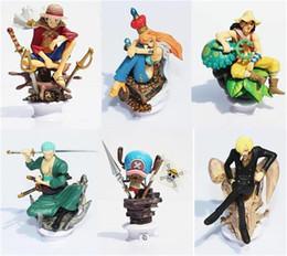 Conjunto de figura de uma peça nami on-line-Anime One Piece Xadrez PEÇA Números Luffy Nami Usopp Chopper Sanji Helicóptero PVC Figura Brinquedos 6 pçs / set EMS