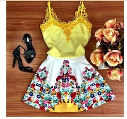Wholesale China Fashion Working Woman - Y25 vestidos 2015 korean fashion dress casual women new round neck lace straps printing large swing dress cheap clothes china