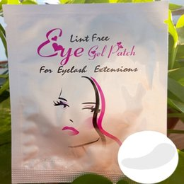 Wholesale Collagen Mask For Eyes - New Collagen eye masks Lint Free Under Eye Gel Pad Patch False Eyelashes Lint Free Eye Gel Patch For Eyelash Extension Eye Makeup 7.6x2.9cm