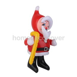 "Wholesale Christmas Inflatable Santa Claus - Wholesale- Vintage Inflatable Santa Claus Blow Up Santa Claus Toy Figure 19"" Tall"