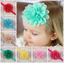 Wholesale Newborn Headbands Mixed - Baby Girls Infant Chiffon Bow Headbands Mix Girl Headband Children Hair Accessories Newborn Bowknot Hairbands Baby Photography Props KHA79