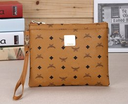 Wholesale Leather Envelope Clutch Bags - High quality logo hand bag