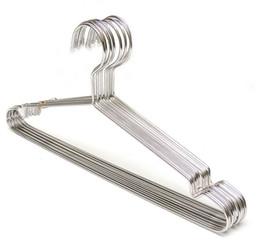 Wholesale Scarf Tie Hanger - Hangerwold Stainless Steel Strong Metal Wire Hangers Clothes Hangers, Metal Hangers, Suit Hangers