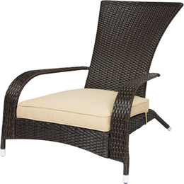 Wholesale Outdoor Wicker Rattan Chairs - Wicker Adirondack Chair Patio Porch Deck Furniture Outdoor All Weather Proof
