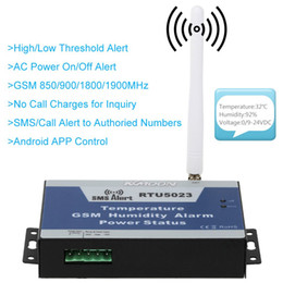 Wholesale Gsm Temperature Control - KKMOON GSM SMS Alarm System Temperature Humidity Power Status Monitoring Support Android APP Control 850 900 1800 1900MHz