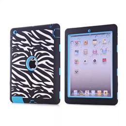 Wholesale Zebra Skin Wholesale - Cute Laser Carving Dot Zebra Wave Combo Tablet Case Cover for iPad mini 1 mini 2 Screen Protective Film Stylus Pen Free Shipping