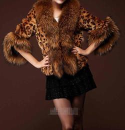 Wholesale Vest Fake Fur - Faux Leopard Fur Coat Women Winter New Fashion Short Design Fake Fur Coats Female Overcoat Fur Jackets