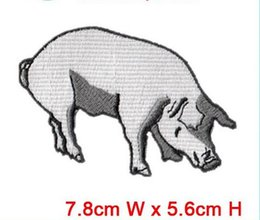 Wholesale Iron Patch Pig - sale computer embroidered animal pig patches sew on or iron on any garment hat bag embroidery factory in china can be custom