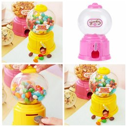 Wholesale Kids Dispenser - Mini Candy Machine Dispenser Coin Bank Home Storage Boxes Kids Toy Money Saving Box Baby Gift Toys for Christmas YYA776