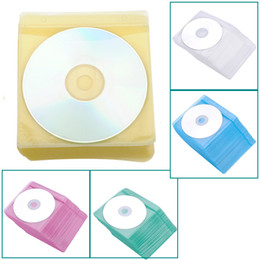 Wholesale Dvd Cases Double - High Quality New 100 pcs lot CD DVD Double Sided Cover Storage Case Plastic Bag Sleeve Envelope Hold